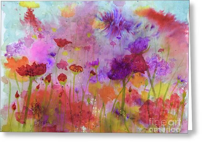 Flower Frenzy  Greeting Card
