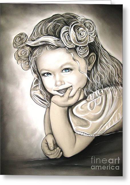 Flower Girl Greeting Card by Anastasis  Anastasi