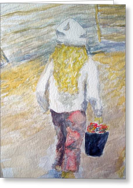 Flower Girl Greeting Card by Mike Segura