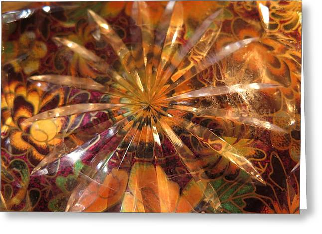 Flower Glass Greeting Card