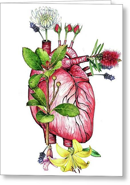 Flower Heart Greeting Card by Heidi Kriel