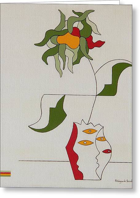 Flower Greeting Card by Hildegarde Handsaeme