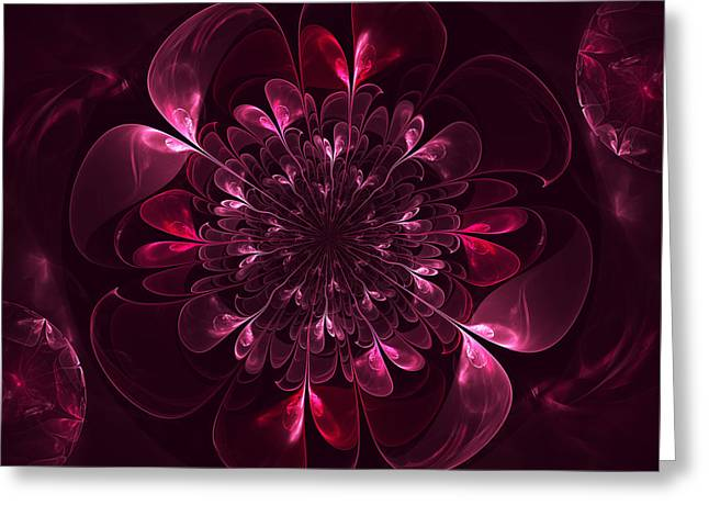 Flower In Bordo Greeting Card