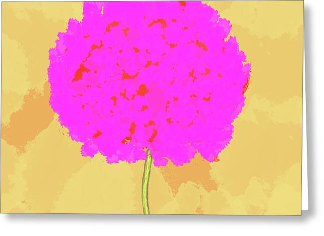 Flower In Pink Greeting Card by Skip Nall