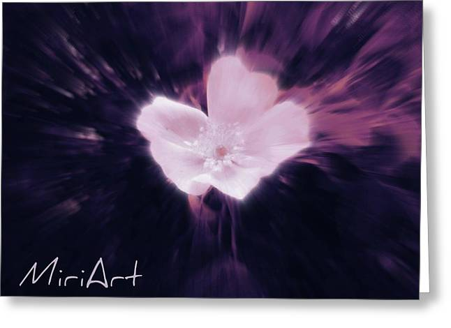 Greeting Card featuring the photograph Flower In Purple by Miriam Shaw