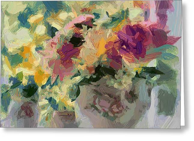 Flower Jar 01 Greeting Card by Yury Malkov