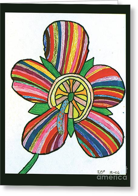 Flower Greeting Card by Jeffrey Peterson