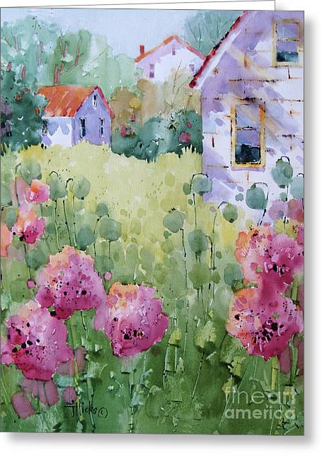 Flower Lady's Poppies Greeting Card
