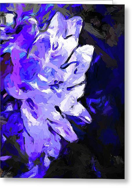 Flower Lavender Lilac Blue Greeting Card