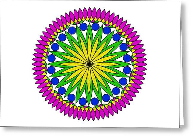 Flower Mandala By Kaye Menner Greeting Card