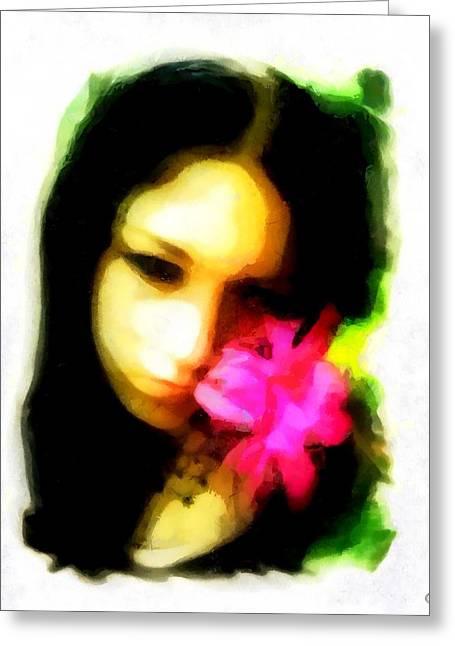 Flower Memory Greeting Card