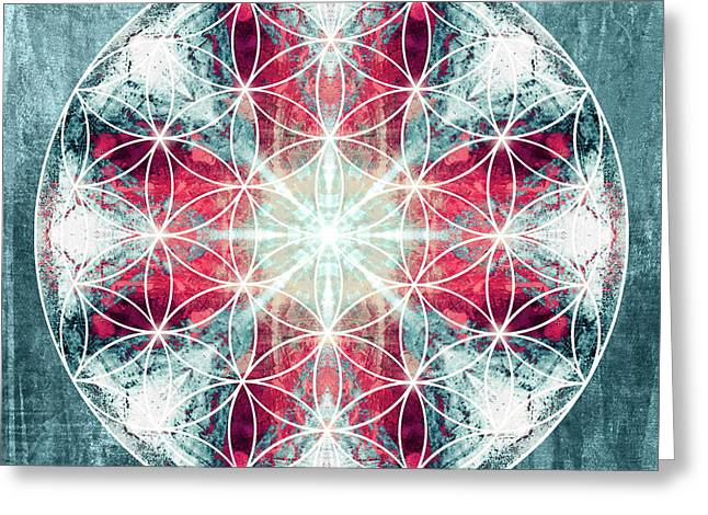 Flower  Of Life 10 Greeting Card