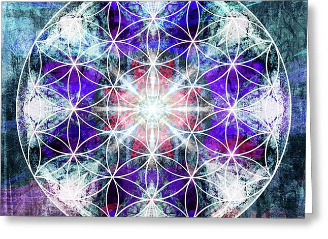 Flower  Of Life 1016 Greeting Card