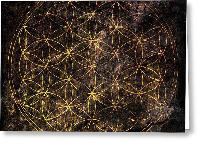Flower Of Life 2 Greeting Card