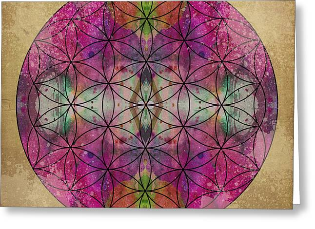 Flower Of Life Greeting Cards - Flower of Life Greeting Card by Filippo B