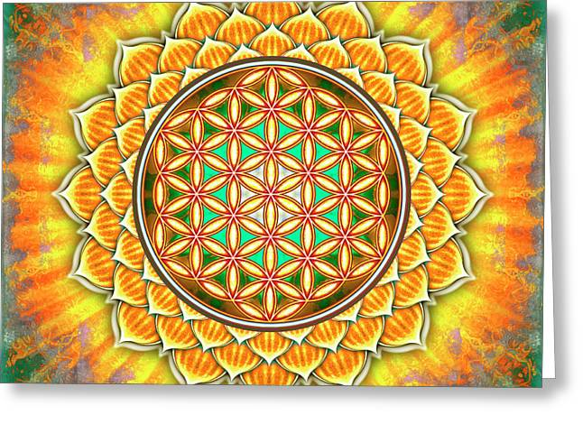 Flower Of Live - Yellow Lotus Greeting Card by Dirk Czarnota