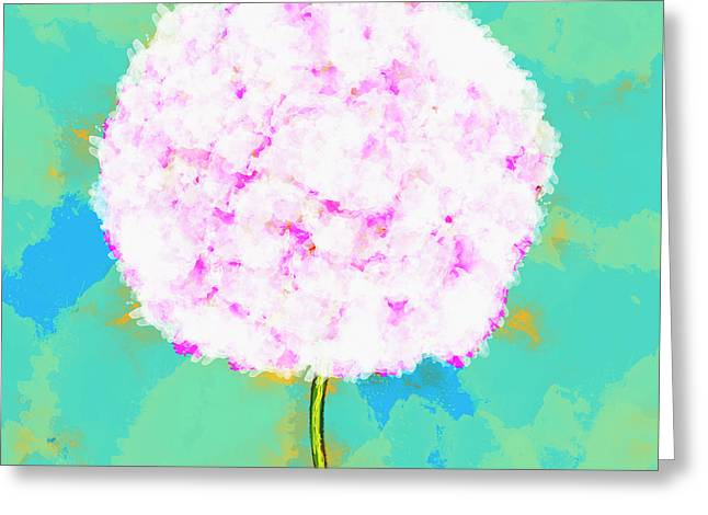 Flower On Green Greeting Card by Skip Nall