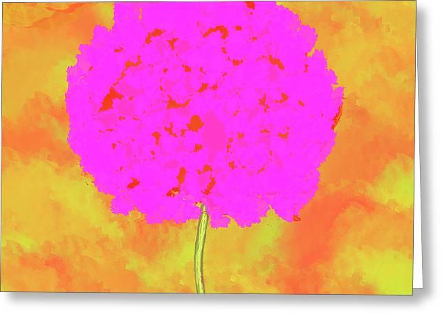 Flower On Orange Greeting Card by Skip Nall