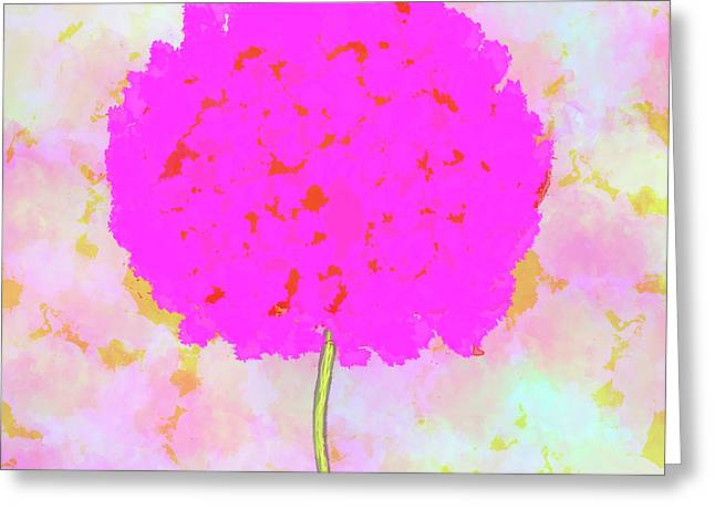 Flower On Pink Greeting Card by Skip Nall