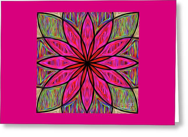 Greeting Card featuring the photograph Flower On Rainbow Mandala By Kaye Menner by Kaye Menner