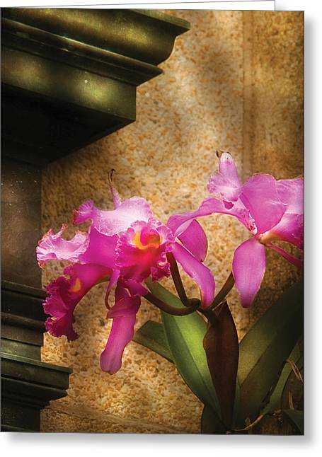 Flower - Orchid - Cattleya  Greeting Card by Mike Savad