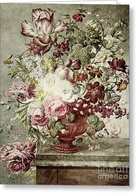 Flower Painting Greeting Card by Paul Theodor van Brussel