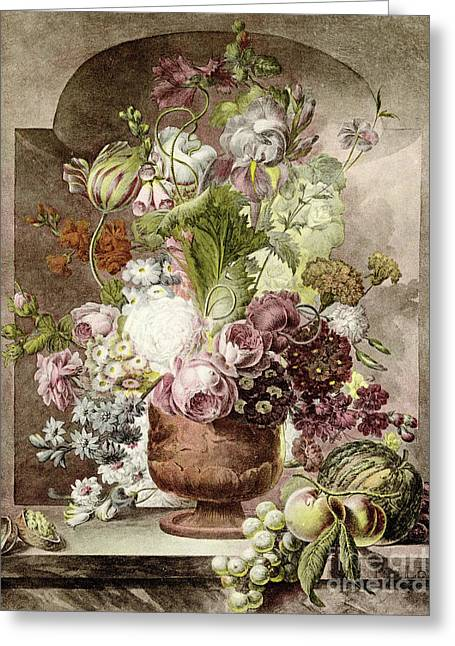 Flower Painting Greeting Card by Pieter van Loo