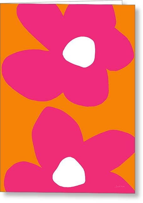 Flower Power 2- Art By Linda Woods Greeting Card