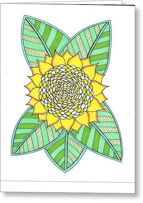 Flower Power 6 Greeting Card