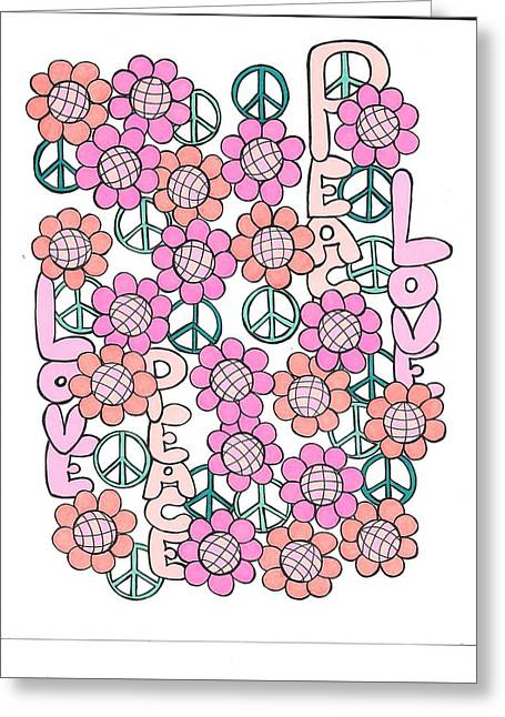 Flower Power 8 Greeting Card