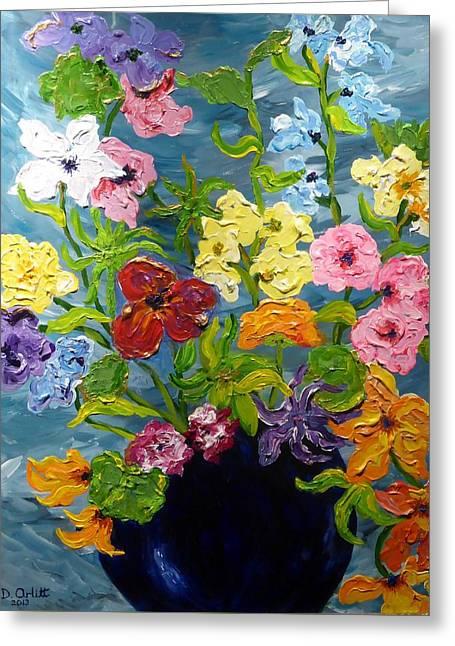 Flower Power Greeting Card by Diane Arlitt