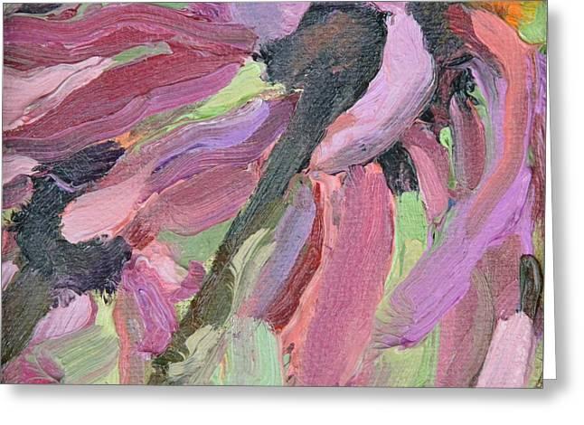 Flower Power Greeting Card by Donna Tuten