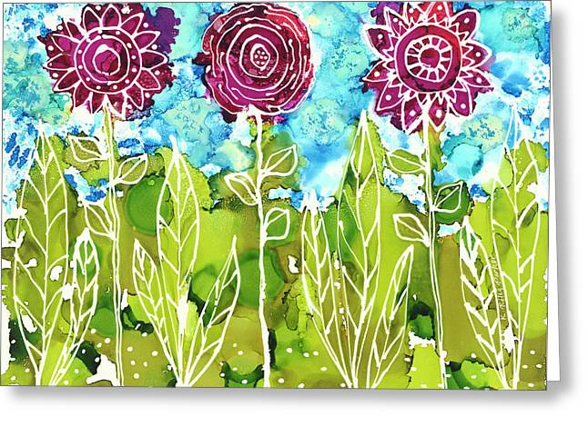 Flower Power Greeting Card
