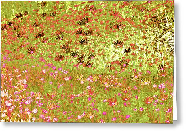 Greeting Card featuring the digital art Flower Praise by Linde Townsend