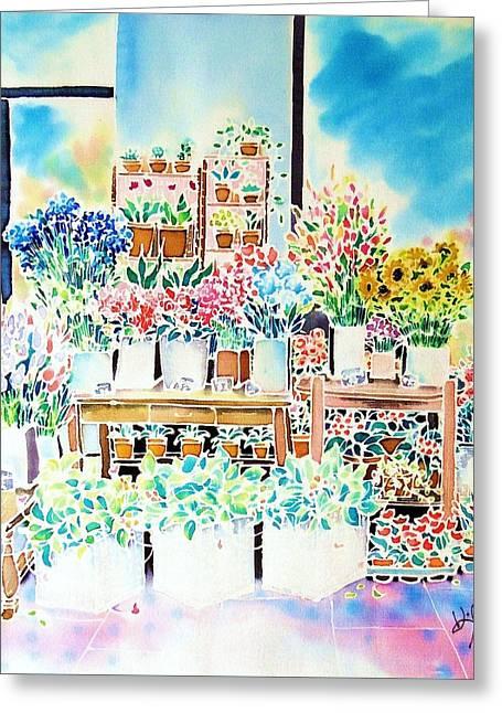 Flower Shop In Paris Greeting Card