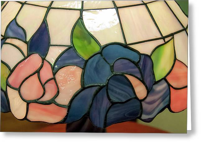 Greeting Card featuring the photograph Flower Stained Glass  by Chris Flees