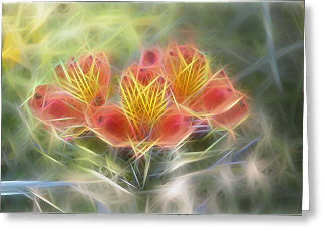 Flower Streaks Greeting Card