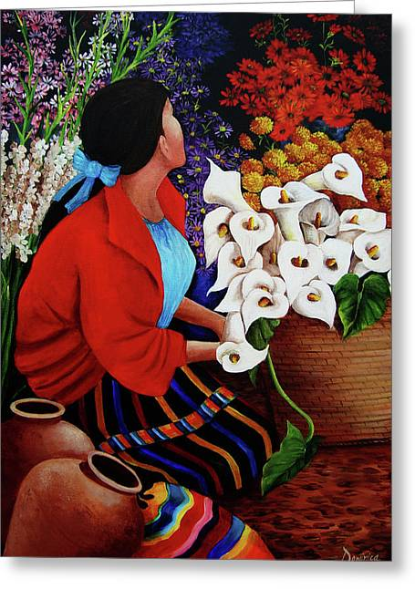Flower Vendor Greeting Card