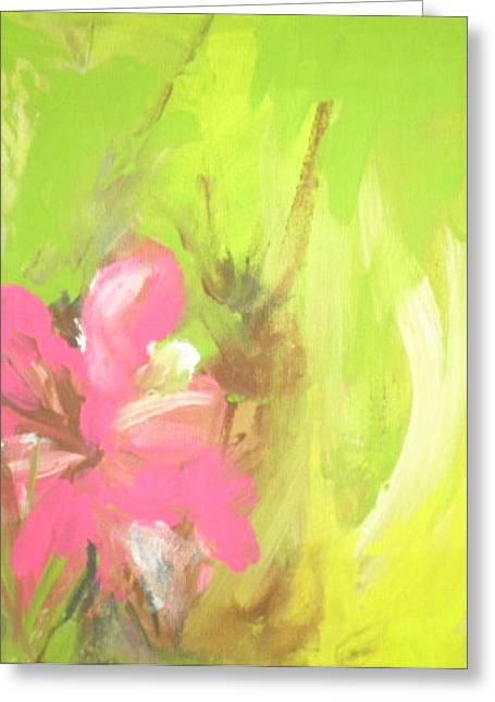 Flower Greeting Card by Vivien Ferrari