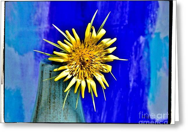 Flower With Spikes Greeting Card
