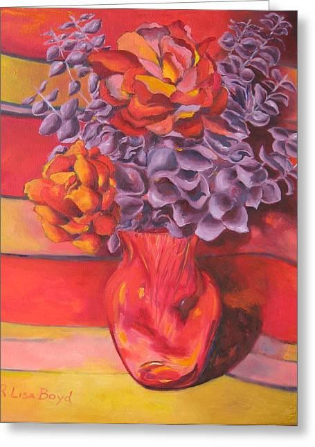 Flowering Orange Greeting Card by Lisa Boyd