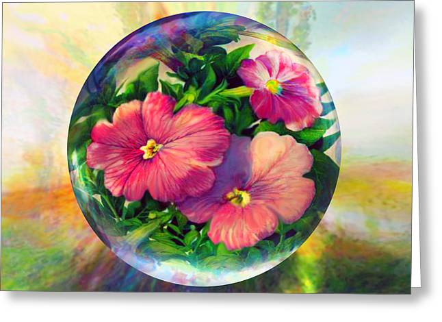 Greeting Card featuring the painting Flowering Panopticon by Robin Moline