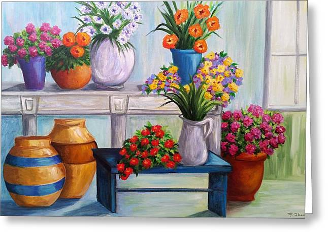 Flowerpots Greeting Card