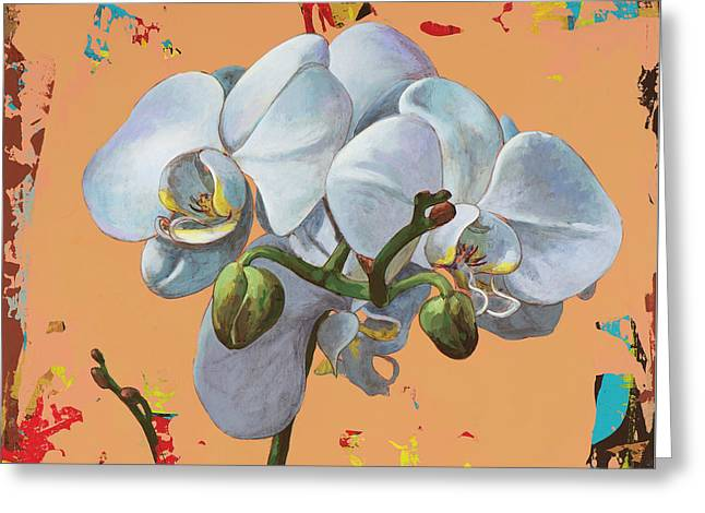 Greeting Card featuring the painting Flowers #12 by David Palmer