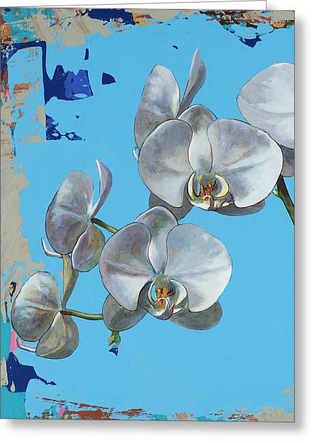 Greeting Card featuring the painting Flowers #15 by David Palmer