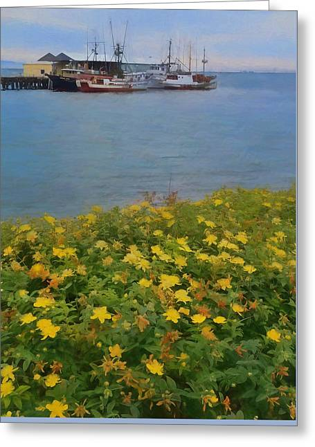 Flowers And Boats Greeting Card by Dan Sproul