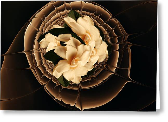 Gardenias Greeting Cards - Flowers and Chocolate Greeting Card by Georgiana Romanovna