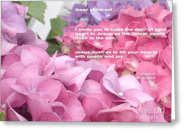 Flowers And Joy  Greeting Card