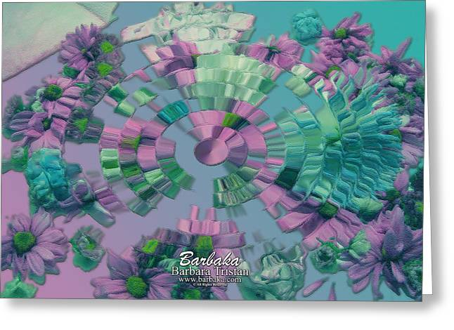Greeting Card featuring the photograph Flowers And Paper by Barbara Tristan
