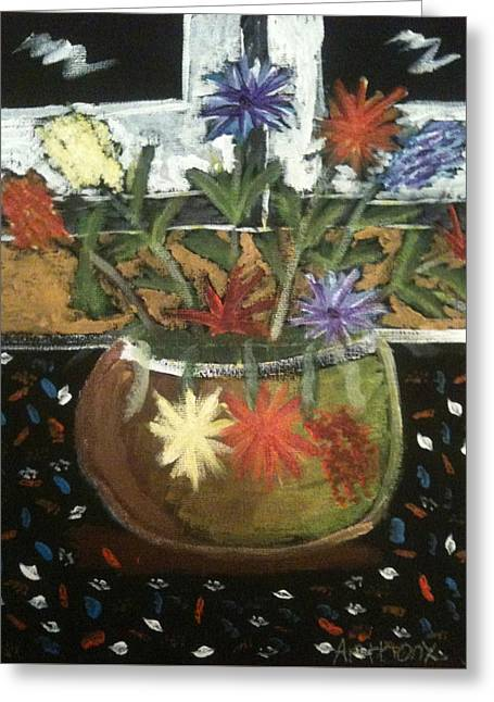 Flowers Greeting Card by Artists With Autism Inc